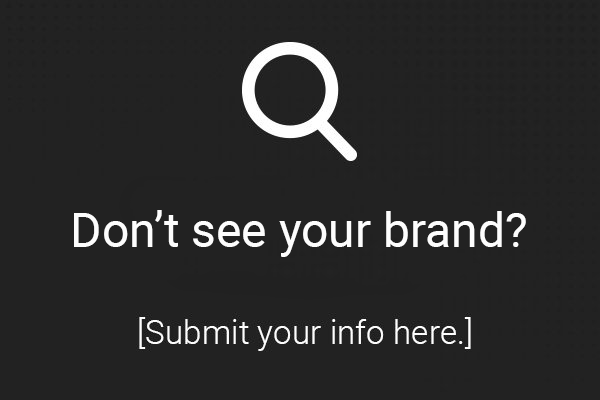 Don't see your brand?